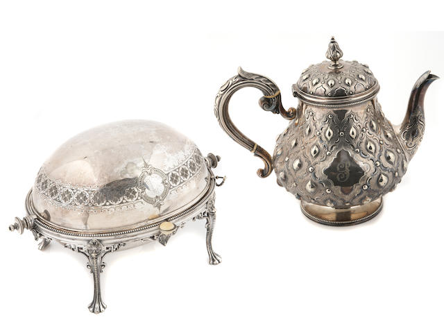 Group of Victorian Silver Plate Table Articles