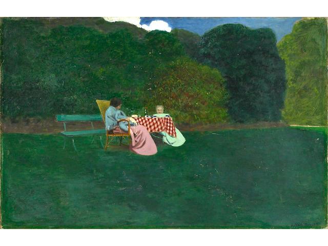 Félix Edouard Vallotton (Swiss, 1865-1925) Le déjeuner, 1899 19 3/4 x 30 11/16in (50.2 x 78cm)