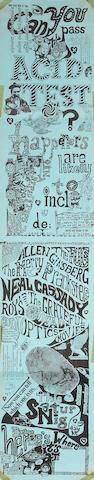 "A Ron ""Pig Pen"" McKernan 'Can You Pass the Acid Test' poster, January 22, 1966"