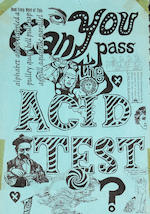 A Pig Pen-owned 'Can You Pass the Acid Test' telephone pole poster, January 22, 1966 (?)