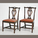 A pair of George III style mahogany side chairs