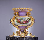 A monumental Russian gilt-bronze-mounted porcelain vase