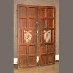 A pair of Spanish Baroque walnut doors