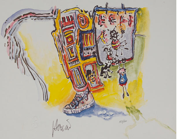 "A Jerry Garcia numbered limited edition print titled ""Tennis Shoe Escape,"" 1990s"