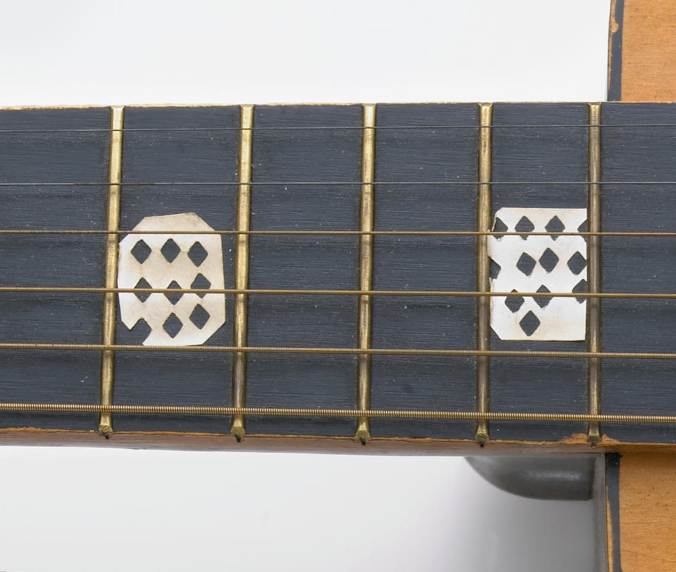 """A Grateful Dead """"kitchen beater"""" Kay acoustic guitar used at 710 Ashbury Street, 1960s"""