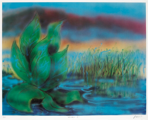 "A Jerry Garcia signed artist's proof print titled ""Wetlands II,"" 1990s"