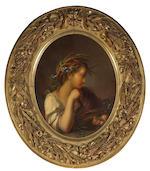 Giuseppe Mazzolini (Italian, 1806-1876) Winter; Autumn (2) oval, 22 1/2 x 17 1/2in (57.1 x 44.4cm)