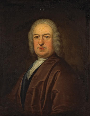 Thomas Bardwell (British, 1704-1767) Portrait of a gentleman