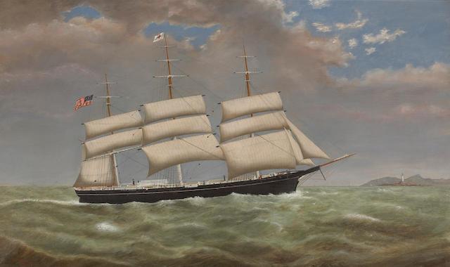 Joseph Park Sweetser (American, 1831-1889) The 'Marcia Greenleaf' 24 x 40in (61 x 101.6cm)