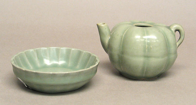 Two celadon glazed porcelains 13th/14th Century