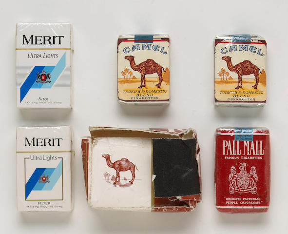 A Jerry Garcia group of unsmoked cigarettes, 1980s-1990s