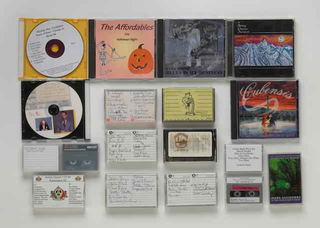 A Vince Welnick enormous group of cassettes, CDs, and DAT tapes from his personal library, 1970s-2000s