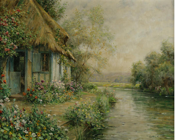 Louis Aston Knight The Cottage at Beaumont 25 5/8 x 32in