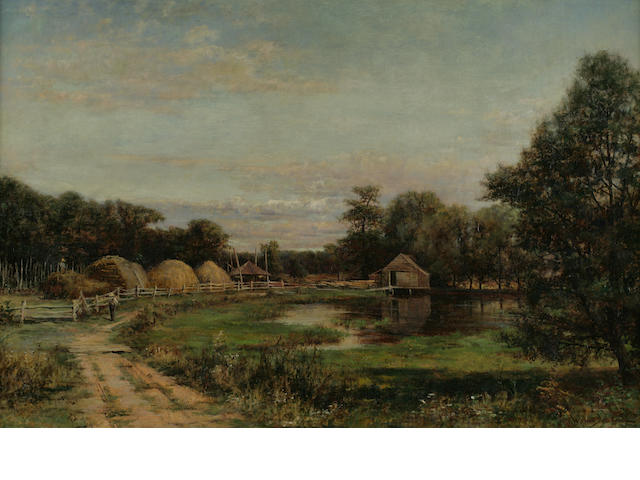 Robert Ward von Boskirk, Landscape, oil on canvas