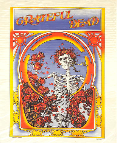 Two Rock Scully-owned Grateful Dead banners, 1970s-1980s