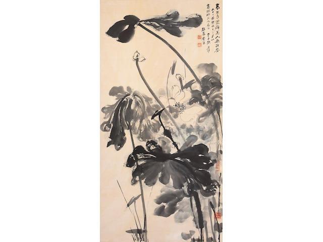 Zhang Daqian (Chang Dai-chien, 1899-1983) Lotus