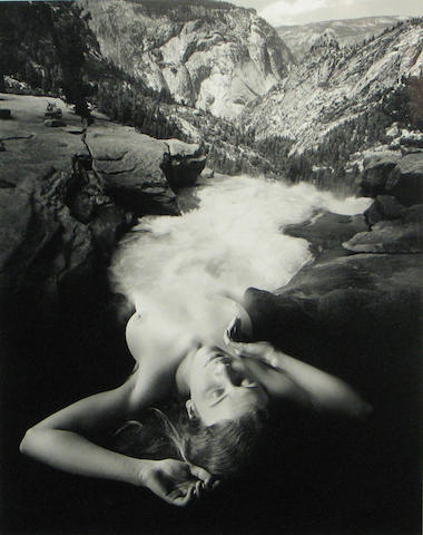 Jerry Uelsmann (American, born 1934); Untitled (Woman and Landscape);