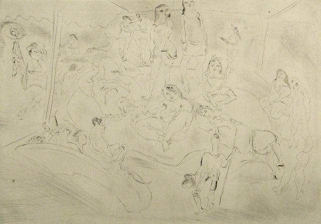 Jules Pascin (French, 1885-1930); L'enfant prodigue chez les filles;