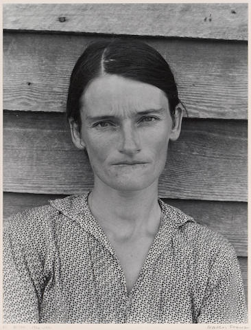 Walker Evans (American, 1903-1975); Allie Mae Burroughs, Hale County, Alabama;