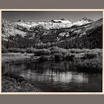 Ansel Adams (American, 1902-1984); Mt. Lyell and Mt. Maclure, Yosemite National Park;