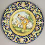 An Italian majolica mythological charger