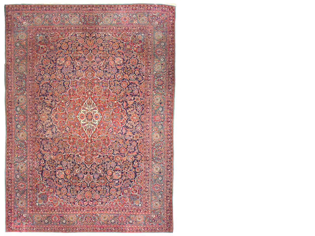 A Dabir Kashan carpet Central Persia, size approximately 9ft. x 12ft.