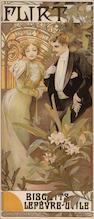Alphonse Mucha (Czech, 1860-1939); Flirt - Biscuits Lefebvre-Utile;