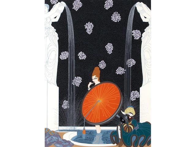 Erté (Romain de Tirtoff) (Russian, 1892-1990); Bath of the Marquise;