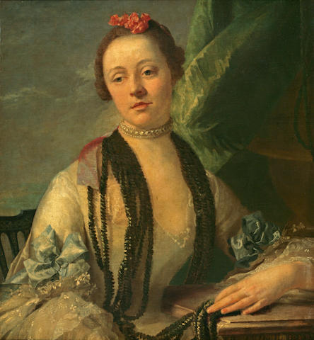 Italian School, 18th Century A portrait of a Lady, 30 1/4 x 27 1/2in (77 x 70cm)