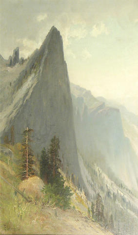 Frederick Ferdinand Schafer (German/American, 1839-1927) Yosemite Valley from Union Point Looking South 26 x 16in