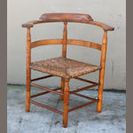 A Chippendale maple corner chair, New England, 18th (feet restored)