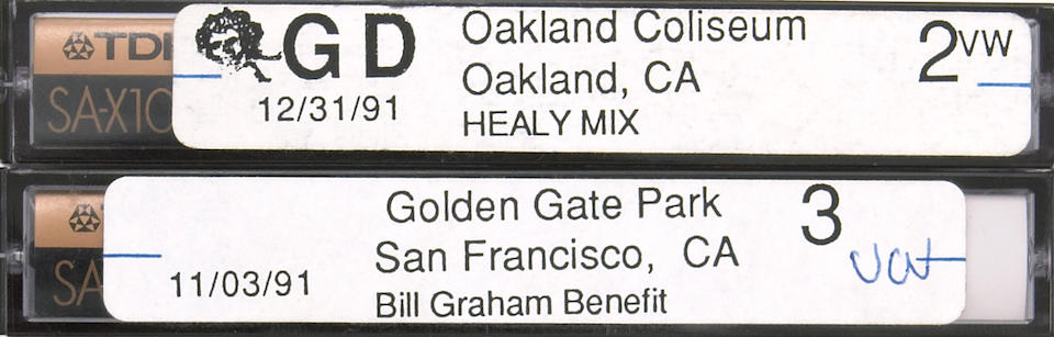 A Vince Welnick enormous collection of cassette tape recordings of Grateful Dead concerts, 1990s