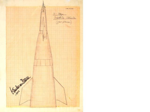 VON BRAUN, WERNHER. 1912-1977.