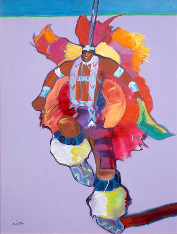 John Nieto (American, born 1936) Oklahoma Fancy Dancer 40 x 30in (101.6 x 76.2cm)
