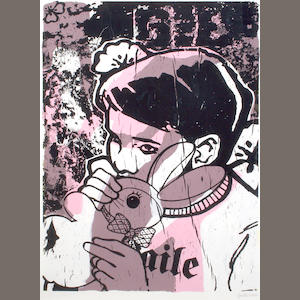 Faile (American, Canadian, Japanese) Bunny Boy, 2004 49 3/4 x 37 5/8in (126.4 x 95.6cm)