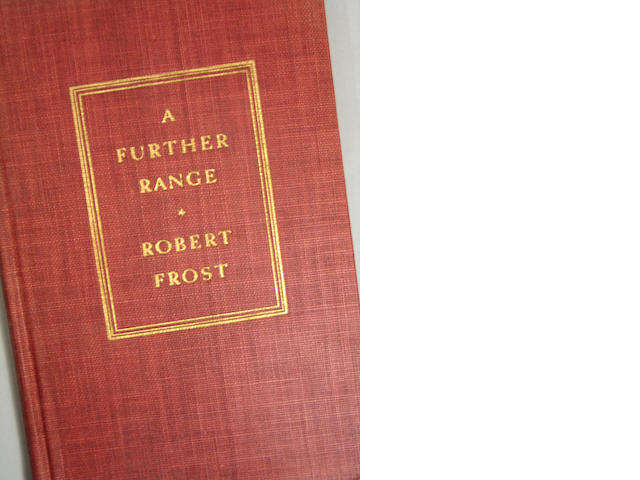 Frost, Robert. A Further Range. NY: [1936]. 1st ed. w/ poetic inscription.