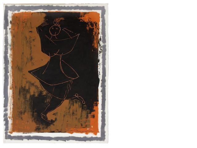Marino Marini (Italian, 1901-1980) Acrobate, 1955 30 5/8 x 22 9/16in (77.8 x 57.4cm)