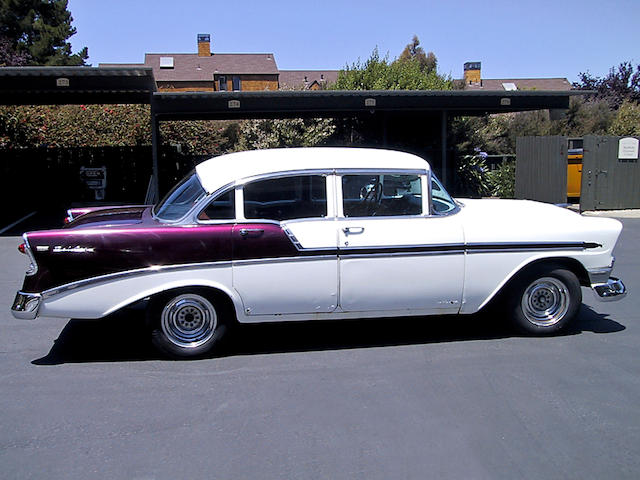 A Grateful Dead crew-owned 1956 Chevrolet Bel Air sedan used to transport Jerry Garcia and other not