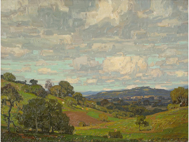 William Wendt (American, 1865-1946) California Landscape, 1910 24 x 32in