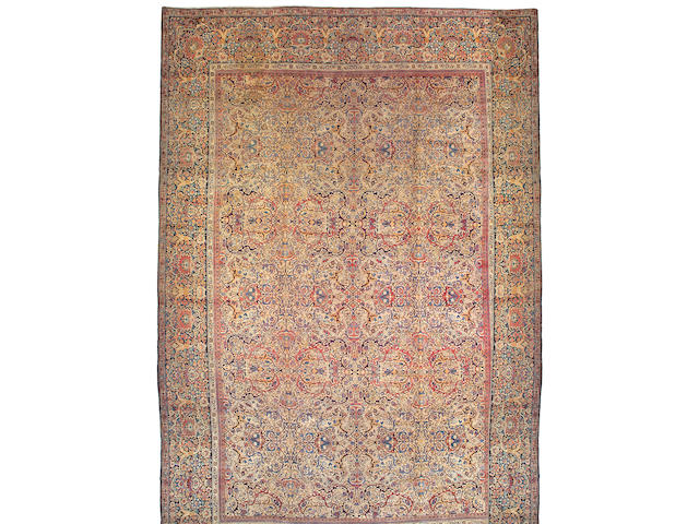 A Kerman carpet South Central Persia size approximately 14ft 2in x 21ft 8in
