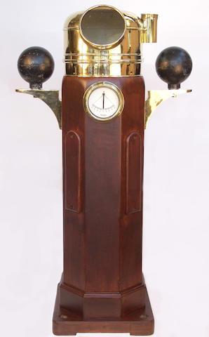 A large ship's binnacle compass, 61in (155cm) high