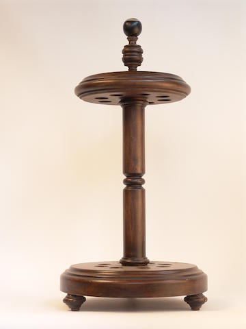 A mahogany pool cue rack, late 19th century, 30in (76cm) high