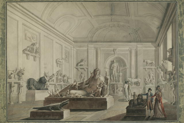 Italian School, Late 18th/early 19th Century Views of the Vatican Museum (4) each 21 1/2 x 29 1/4in (52.1 x 74.3cm)