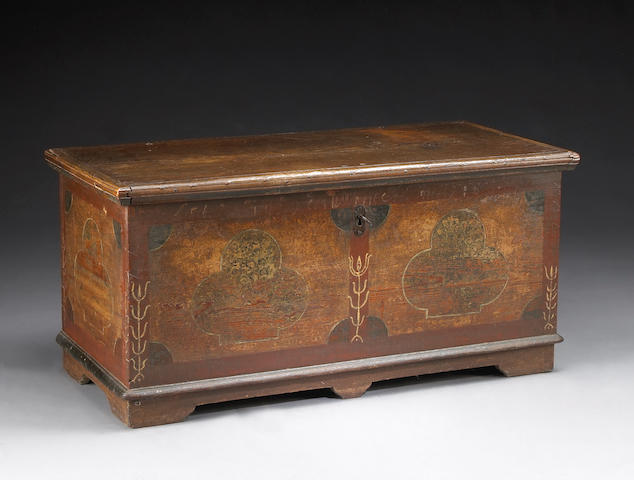 An American Pennsylvania Chippendale blanket chest, 1785