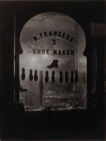 Ralph Steiner (American, 1899-1986); M. Franzese, Shoemaker, New York City; Untitled (Movie Posters); (2)