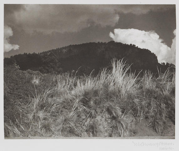 Manuel Alvarez Bravo (Mexican, 1902-2002); Montaña Negra, Nube Blanca (Black Mountain, White Cloud), from Platinum Portfolio;