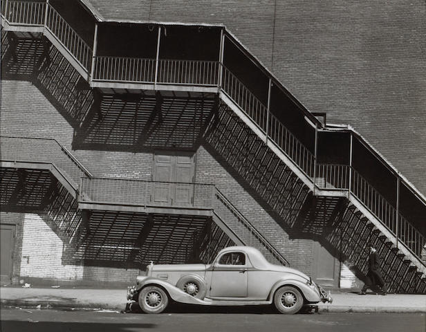 Todd Webb (American, 1905-2000); Mr. Johnson's Pierce Arrow, Harlem, N.Y.C.;