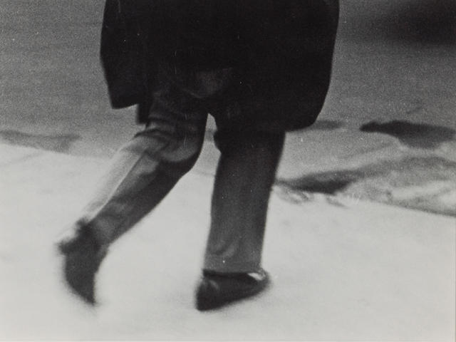 Arthur Siegel (American, 1913-1979); Untitled (Man walking);