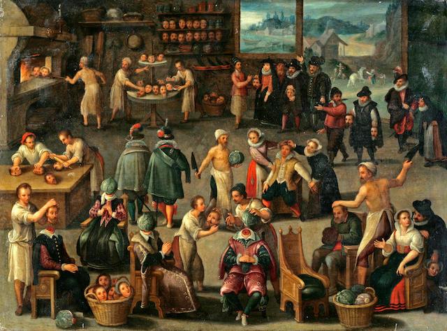 After Cornelis van Dalem, and Jan van Wechelen The Baker of Eeklo 13 5/8 x 18in (35.6 x 45.7cm)