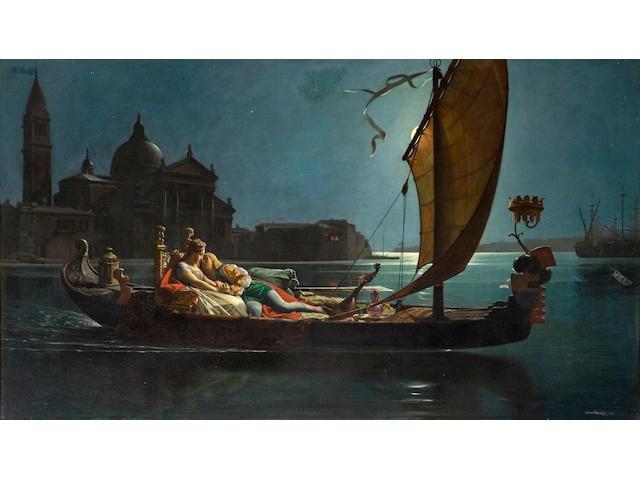 Jean-Jules-Antoine Lecomte du Nouy (French, 1842-1923) La lune de miel à Venise 30 x 52 1/2in (76.2 x 133.3cm)